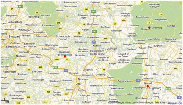 AugsburgGeislingenMap